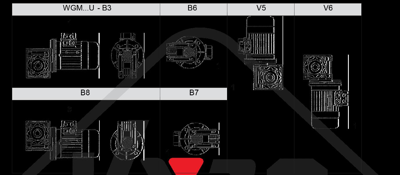 montážna poloha wgm090
