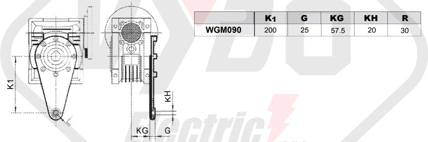 torzné rameno prevodovka wgm090
